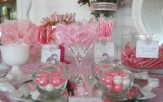 pink candy table