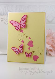 akeptlife.blogspot.com 1368 Heart Breeze 1362 Shimmering Heart Border 1378 Devyn Butterfly Trio 1389 Emelia Butterfly Trio,  #valentine, #card, #heart, #poppystamps, #reverse, #butterfly, #die