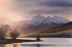 Snowdon from Mymbyr., an original watercolour painting by Rob Piercy