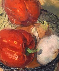 """Sweet Peppers, Onion, Garlic, 10/14/2015"" by Duane Keiser"