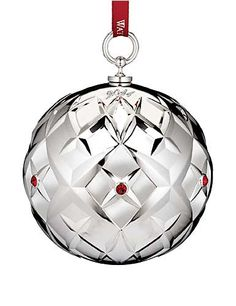 Waterford Silver 2014 Lismore Ball Ornament