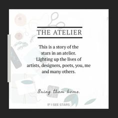 An atelier is a place where an artist or designer create their masterpieces. It gives them the space and privacy needed to create.  An atelier is a place of creativity. . . . . . #ifiseestars  #handmadewithlove #upcycled #ecofriendlyproducts  #sustainablecollective  #artcommunity  #artsupplies  #artjournal  #preorder #freeshippingwithinindia  #unique #ecofriendlyproducts  #letscreatemagic  #atelier Bring Them Home, Bring It On, I See Stars, Let's Create, Community Art, Creativity, Cards Against Humanity, Motivation, Space