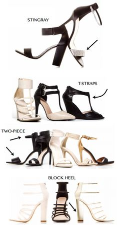 LE CHÂTEAU's S/S '14 shoe collection - My Fash Avenue. Love, esp. t-straps.