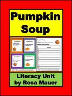 Pumpkin Soup by Helen Cooper: Receive short-answer reading comprehension questions in task card and printable worksheet formats. Response forms are provided for students and answers are given for the teacher. Click