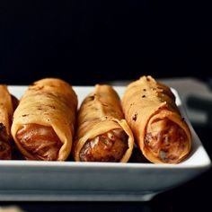 Chinese take out food- vegetarian spring rolls #foodgawker