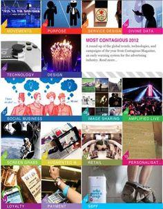 Tendencias que más han influido en el mundo del marketing y la comunicación durante el año: Most Contagious 2012