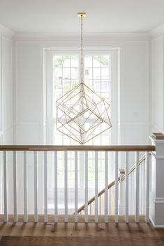 Home design and decor Nothing better than a statement light fixture to light up ✨ a beautiful stairw Stairway Lighting, Entry Lighting, Bedroom Lighting, House Lighting, Entry Chandelier, Chandelier In Living Room, Staircase Design, Decoration, Light Fixtures