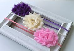 Shabby chic  headbands of your color choice by mariajosemonsegur, $11.00