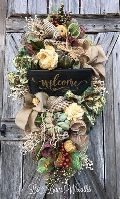 Reserved for Lisa Fall Wreath Fall Swag Autumn Swag Fall