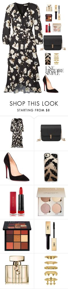 """To be surrounded by people you care about"" by chase-stars on Polyvore featuring Alice + Olivia, Christian Louboutin, Casetify, Max Factor, Huda Beauty, Gucci, Luv Aj and Une"