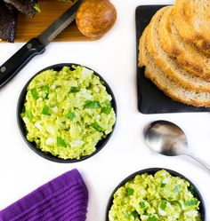 Mayo Free Avocado Egg Sandwich view from above with toast
