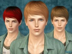 My Sims 3 Blog: Cazy Joey Hair for Males
