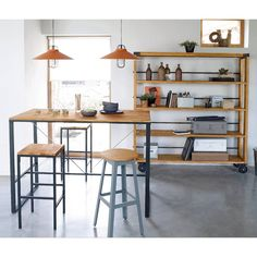 image Set of 2 Hiba Tall Square Bar Stools La Redoute Interieurs