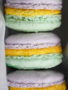 Mardi Gras Macarons Recipe : Decorating : Home & Garden Television