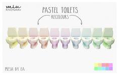Pastel Toilets at Miu via Sims 4 Updates