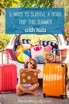 5 Ways to Survive a Road Trip with Kids This Summer. Advice for moms on how to reduce family stress while traveling by car this summer.