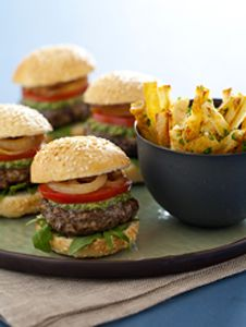 Vegan Sliders and Fries