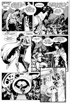 comic books Having immersed ourselves in some of the EC greats, I thought I'd wind the clock forward a few years and look at the work of Mark Schultz, w. Comic Book Layout, Comic Book Pages, Comic Book Artists, Comic Artist, Comic Books Art, Comic Frame, Bd Comics, Black White Art, American Comics