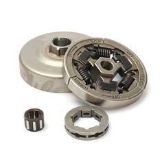 Clutch + Drum + Sprocket Rim 3/8-7 + Bearing Kit For STIHL MS044/046/440/460/340