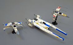 Mid-scale LEGO U-wing & Blue Squadron X-wing from Rogue One