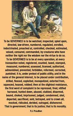 proudhon on government Pierre Joseph Proudhon, What Is Property, Unexplained Phenomena, Great Philosophers, My Philosophy, The Secret History, Documentaries, Spirituality, Politics