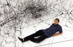Tomas Saraceno's art installation at baltic Centre for Contemporary Art