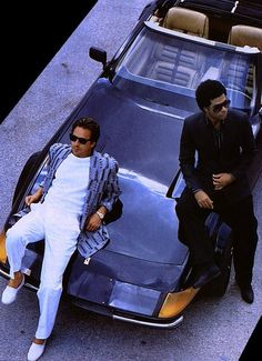 The pair of the vice squad officers: Sonny Crockett and Ricardo Tubbs
