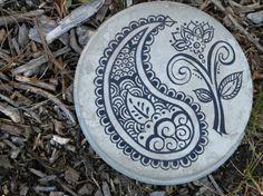 Paisley Henna Garden stepping stone. $22.00, via Etsy.