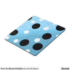 Dots On Blended SkyBlue Puzzle Coaster