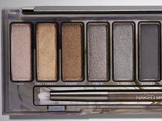 Urban Decay Naked Smoky Palette (first half) L to R: High, Dirtysweet, Radar, Armor, Slanted, and Dagger.