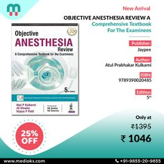 Publisher: Jaypee ISBN: 9789390020485 Author: Atul Prabhakar Kulkarni Publish Year: 2020 Edition: 5th Condition: New Ships In: 5-7 days #medioks #medicalbooks #discounts #anesthesia #anesthesiology #anesthesiologist #medicine #anestesia #nurse #anesthesialife #anestesiologia #surgery #medical #doctor #covid #healthcare #anesthetist #medstudent #hospital #nursing #lenses #makeup #operatingroom #anesthesia #anestesista Medical Doctor, Med Student, Textbook, Surgery, Nursing, Dental, Lenses, Health Care, Online Shopping