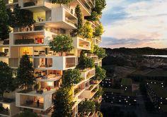 Uma selva vertical no meio da cidade. Esse foi o conceito que norteou o projeto do arquiteto italiano Stefano Boeri para criar esse arranha-céu residencial em Lausanne, na Suíça. A torre de 117 metros contará com mais de 100 árvores de cedro, 6.000 arbustos e 18.000 plantas, totalizando um espaço verde de aproximadamente 3.000 metros quadrados. Por isso, o nome La Tour des Cedres ou The Cedar Trees Tower é totalmente apropriado.