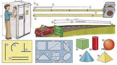 Measurements and geometric shapes English lesson in PDF