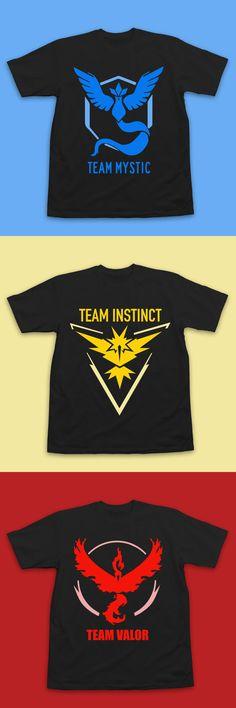 Pokemon Go Team Shirts by InksterInc on Etsy