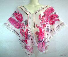 VENTA!!!!  Nueva Casual Kaftan caftán Poncho suelta Tops blusas vestido túnica playa gitana Hippie verano multicolor, un tamaño cabe a todos