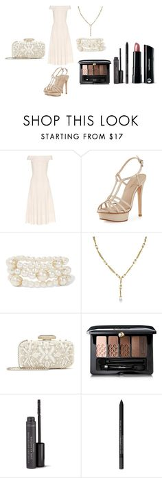 """""""Untitled #380"""" by michelle-konner ❤ liked on Polyvore featuring Alexander McQueen, Pelle Moda, Kenneth Jay Lane, Chanel, Oscar de la Renta, Guerlain and Bare Escentuals"""
