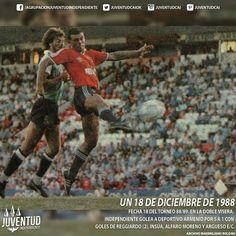 #IndependienteHistorico Fecha 18 del Torneo 88/89. En la Doble Visera, #Independiente golea a #DeportivoArmenio
