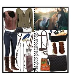 """""""Mounted archery"""" by fridaoc ❤ liked on Polyvore featuring UGG Australia, CO, NIKE and plus size clothing"""