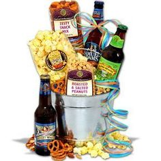 The Best Manly Gift Baskets for Men Beer Gift Basket For Men Microbrew Beer Cap Crafts, Craft Beer, Christmas Baskets, Christmas Gifts, Holiday Gifts, Christmas Ideas, Christmas Lodge, Funny Christmas, Holiday Fun