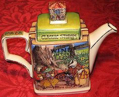 Vintage Sadler Teapot Wind IN THE Willows Classic Stories Book TEA POT England   eBay QUITE AMAZING!