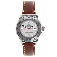 Rolex Brown Leather Strap for Yacht-Master by Everest