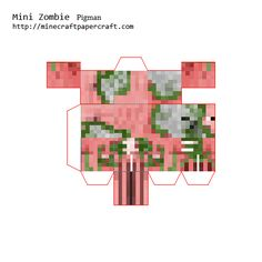 Papercraft Mini Zombie Pigman