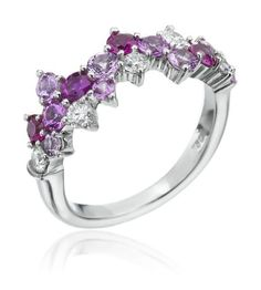 Mark Patterson - Samba 18K White Gold Multi-Gemstone Ring