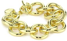 1AR by UnoAerre 18k Gold Plated Circle Link Bracelet