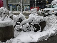 snow is pretty when it's falling.  the next day when you're trying to ride your bike?  not so much.
