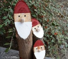 easy diy santa logs nisse, christmas decorations, crafts
