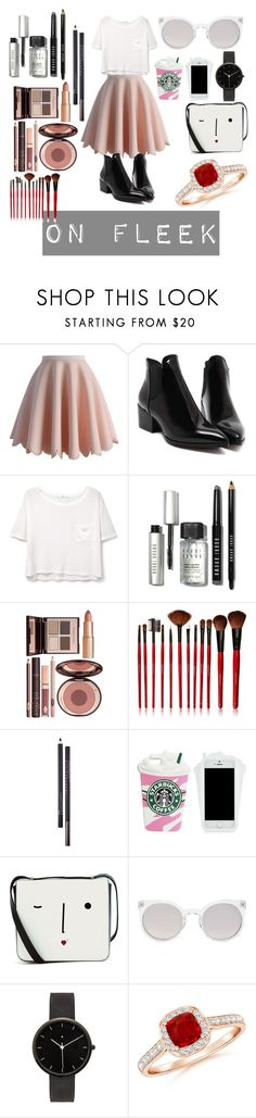 """""""Untitled #200"""" by just-fashion-by-me ❤ liked on Polyvore featuring Chicwish, MANGO, Bobbi Brown Cosmetics, Charlotte Tilbury, Shany, Chantecaille, Lulu Guinness, Kosha and I Love Ugly"""