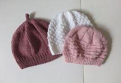 Tuto tricot:Trio de bonnets pour baby girls