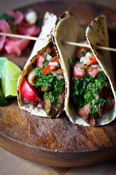 Chimichurri Steak Taco's....so tasty! | www.feastingathome.com