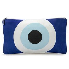 Evil eye cosmetic pouch by DeadlyDesignerStore on Etsy